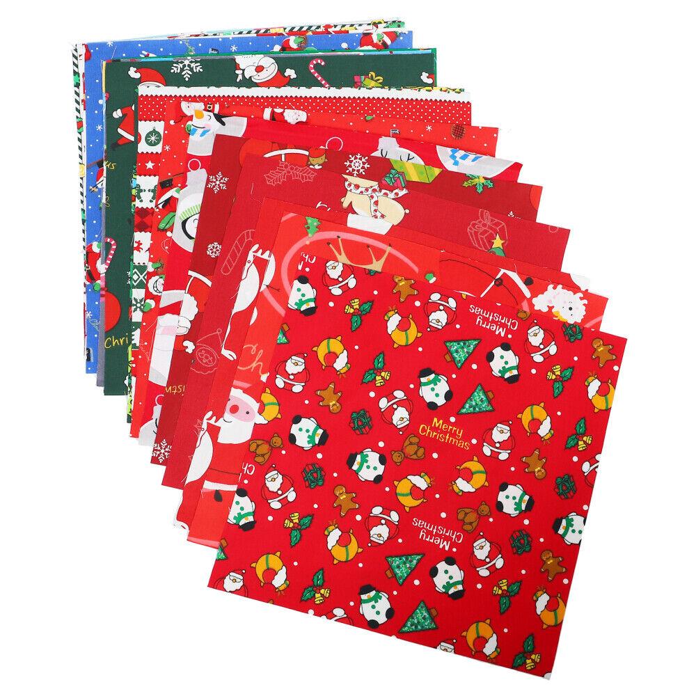 20 stücke Weihnachten Stil Nähen Tuch Blatt Baumwolle DIY Tuch Druckstoff