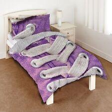 New Purple Zapato Zapatilla Shoelaces individual duvet cover quilt Set Chicos Chicas Niños