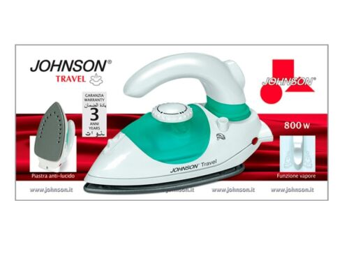 Ferro da stiro da viaggio Johnson Travel vapore piastra acciaio Inox 800 W Rotex