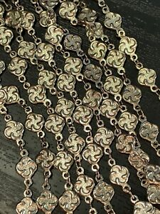 Vintage-Necklace-Signed-Chicos-silver-Detailed-Intricate-5-Strand-Statement-24