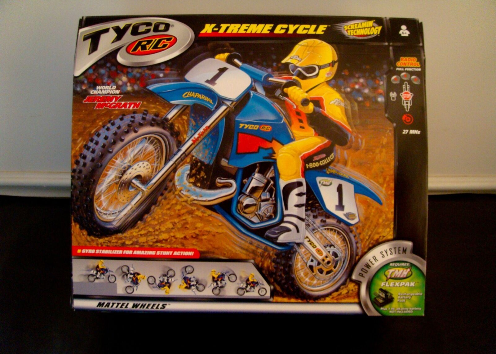 TYCO RC - RARE X-TREME CYCLE - TMH Flexpak BATTERY INCLUDED -  MIP
