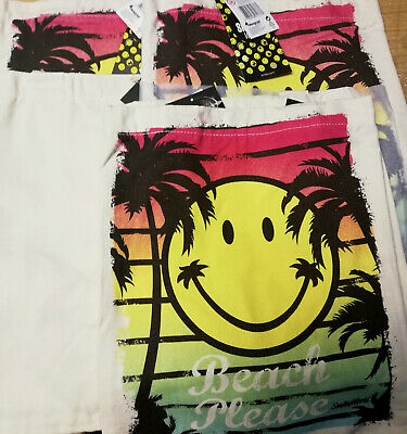 12 X Wholesale Joblot Smiley World Cloth Tote Shopper Shoulder Bag Women Ladies