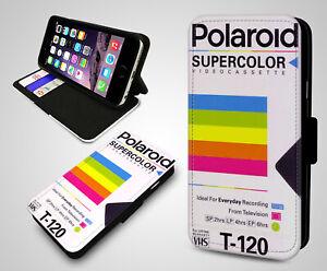 Polaroid-Home-VHS-Cassette-Vintage-Gadget-Portefeuille-Cuir-Telephone-Etui-Housse