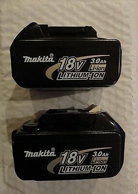 2Pc Genuine Makita BL1830-2 18V Volt LXT Lithium Ion Battery Packs 3.0 AH BL1830