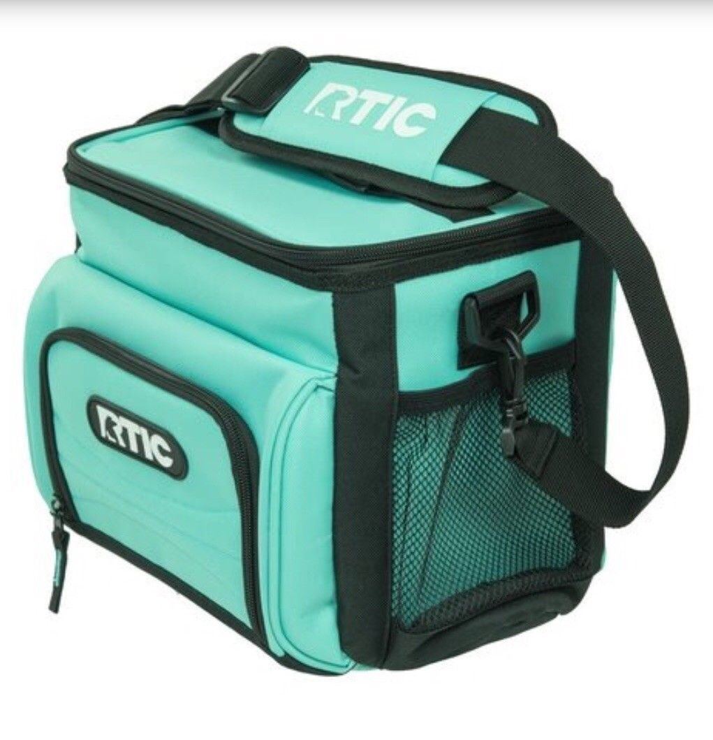 Genuine RTIC Day Cooler 8  Lunchbox Soft Cooler aqua rare free shipping   quality assurance