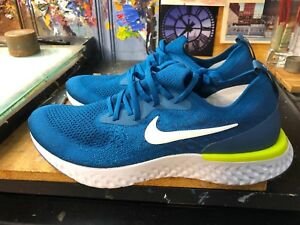 cb012db97e444 Nike Epic React Flyknit Green Abyss White-Blue Force Size US 12 ...