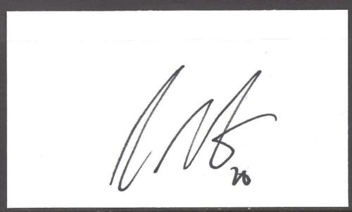 A 13cm x 7.5cm Plain White Card Signed by Craig Cathcart. Manchester United.