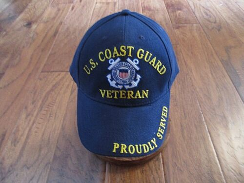 6 of 9 United States Coast Guard Veteran Hat Ball Cap Uscg Proudly Served d29af8ac0ecb