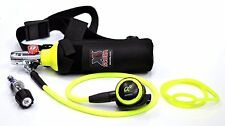 DXDIVER Bailout Pony Bottle Diving Kit with Nylon Belt - Hose - 13 cf Tank - SPG
