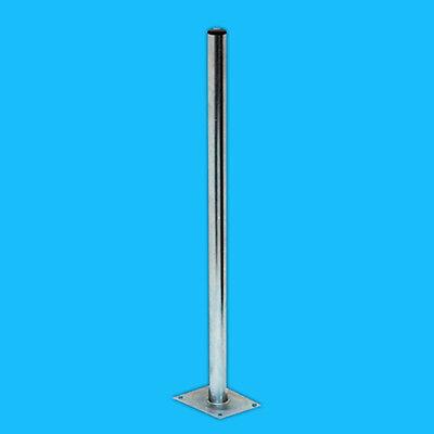 Mastfuß 100cm 1m Stahl für Sat Spiegel Schüssel Balkonständer Standfuss Mastfuss
