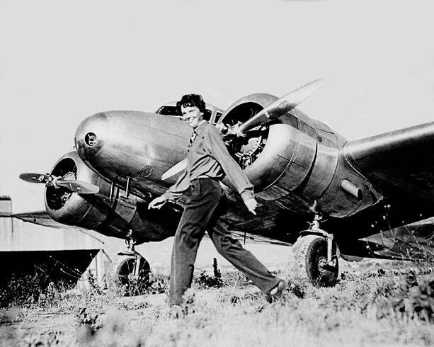 1937 Aviator Pilot AMELIA EARHART Glossy 8x10 Photo Reprint Airplane Poster