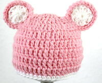Mütze Neugeborene  Babymütze Fotoshooting- NEU Kopfum. 35 - 40cm