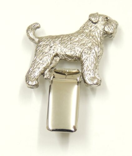Bouvier with Tail Show Ring Clip//Number Holder