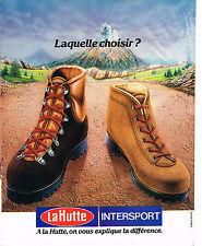 PUBLICITE ADVERTISING 114  1980  LA HUTTE INTERSPORT   chaussures de marche