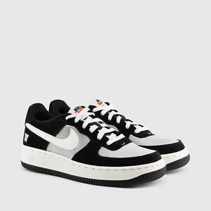 big sale 8a034 fe40a Image is loading NIB-KIDS-NIKE-AIR-FORCE-1-SHOES-BLACK-