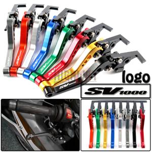 CNC-Short-Aluminum-Adjustable-Brake-Clutch-Levers-For-Suzuki-SV1000-S-03-2007