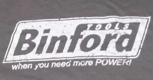 Gray-Shirt-Men-s-Large-Binford-Tools-034-When-you-need-more-POWER-034-Graphic-TeeD11