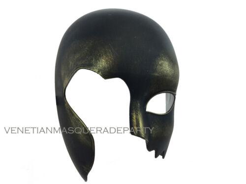 Hand cut Black Bronze Costume Prom Halloween Masquerade Skull Wolf Mask Party