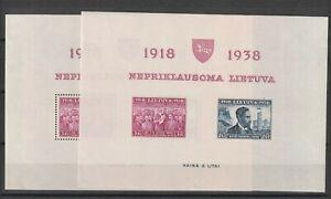 Lithuania / Litauen 1939 Mi # block 1  A+B vf MNH
