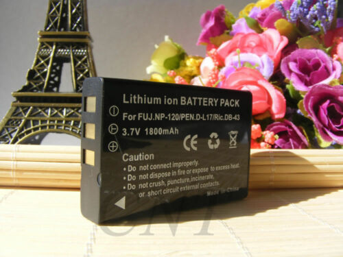 2 X 1800mAH NP-120 Batería para Fuji FinePix F11 F10 M603 Optio 450 550