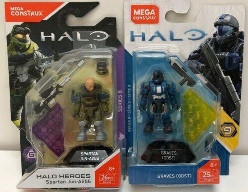 Halo Heroes Series 6 Spartan JUN A266 /& Series 9 Graves FMM69 /& GCM27