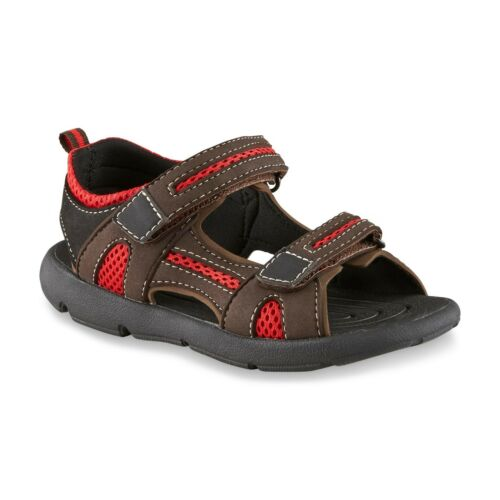 New Boys Youth Route 66 Peter Sport Sandal Style 94096 Brown//Red 23F lr