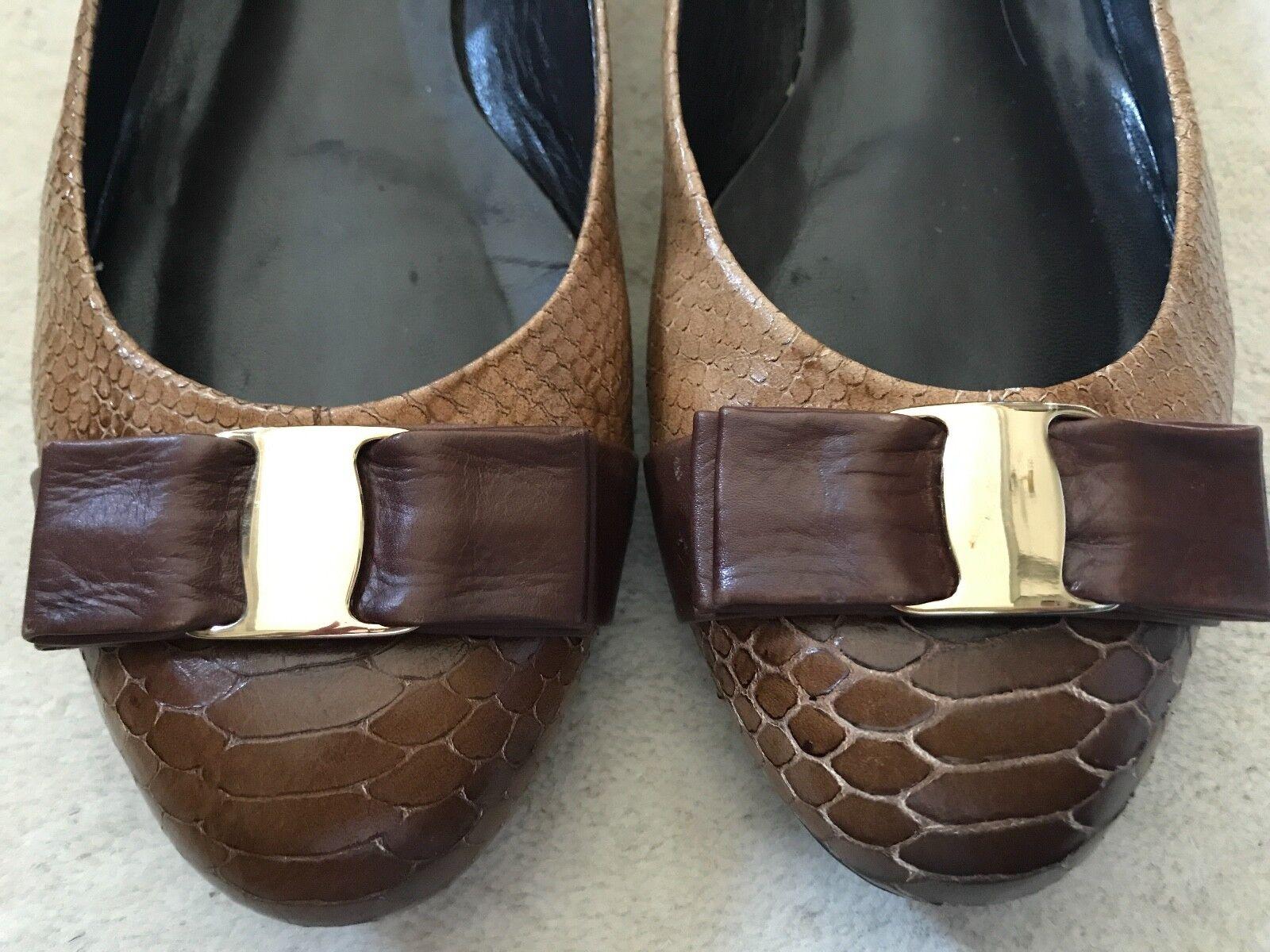 FS NY NY NY galés Coñac Lagarto Ballet Zapatos sin Taco Sin 9.5  seguro de calidad