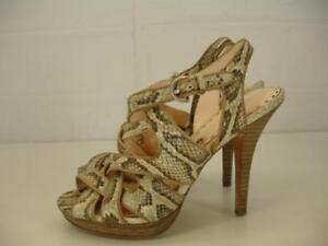 380bb709d5f Womens sz 7 B M Coach Alba Snakeskin Sandals Platform 4.5