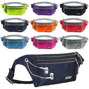 c84a8eff0696 Image is loading Waterproof-Running-Belt-Bum-Waist-Pouch-Fanny-Pack-