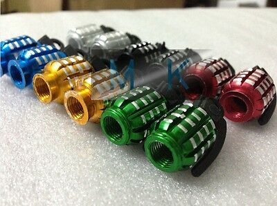 12pcs Motorcycle Mix-Color Hand Grenade Tire Valve Cape Cool Unique Nade Design