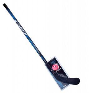 Bauer-Combo-Streethockey-Schlaeger-und-Ball-Eishockey-Feld-Hockey-110cm-43-034