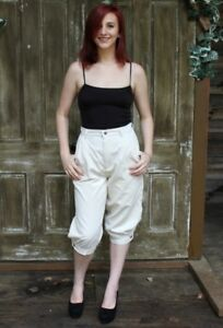 latest selection new release outlet Details about Vintage 80s Stuffed Jeans Beige CORDUROY Knickers Retro Crop  Knee Pants 29