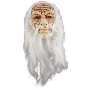 Opa-Maske-alter-Mann-Zauberer-boeser-Weihnachtsmann-Halloween-Karneval-Zubehoer