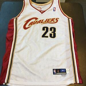 hot sales ddb8d c194d Details about Lebron James 2003-04 Rookie Game Model Authentic Cleveland  Cavaliers Jersey