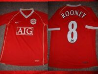 "Manchester United Rooney Jersey Shirt Boys L 32"" Soccer Football Nike England"