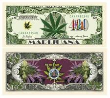Medical Marijuana Novelty 420 Dollar Bill Cannabis Mary Jane