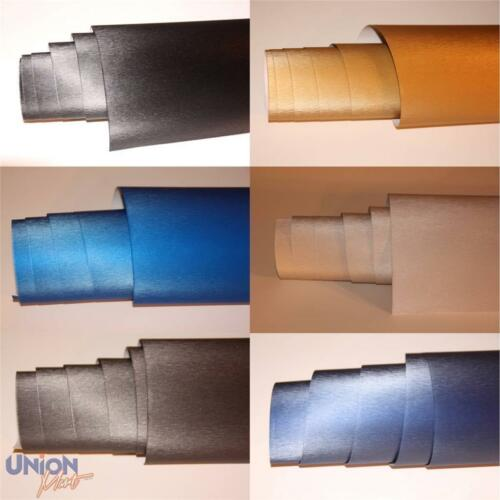 Spazzolato Vinyl Wrap film COLORI ASSORTITI Premuim Grade 750 mm in alluminio acciaio