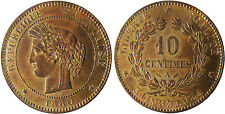 10  CENTIMES  CERES  1880  A  PARIS    ,  SUPERBE  À  FLEUR  DE  COIN