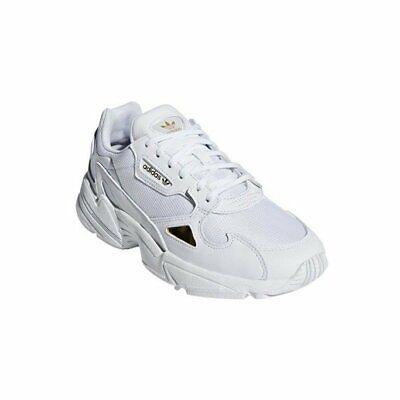 adidas Originals sportliche Turnschuhe Damen Echtleder Sneaker Falcon W Weiß | eBay