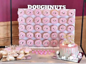 Y354 Donut Doughnut Wall Stand Party Wedding Favour Birthday Sweets Candy Carts