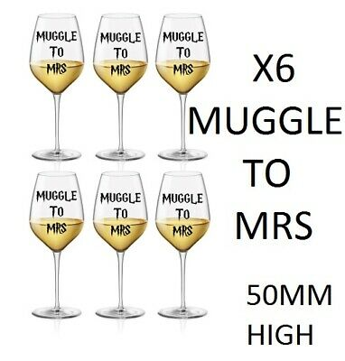 hen do Wedding Personalised hen do stickers harry potter From muggle to mrs