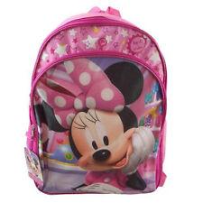 """Disney Minnie 16"""" Large Backpack School Bag Girl Kids  - Pink"""