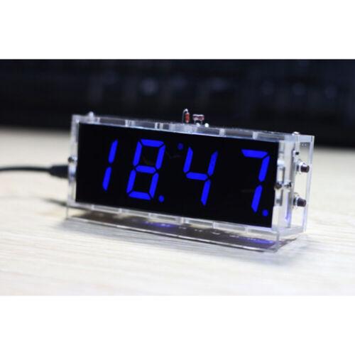 DIY Electronic Clock LED Micro controller Kit Digital Clock Time Control  Light