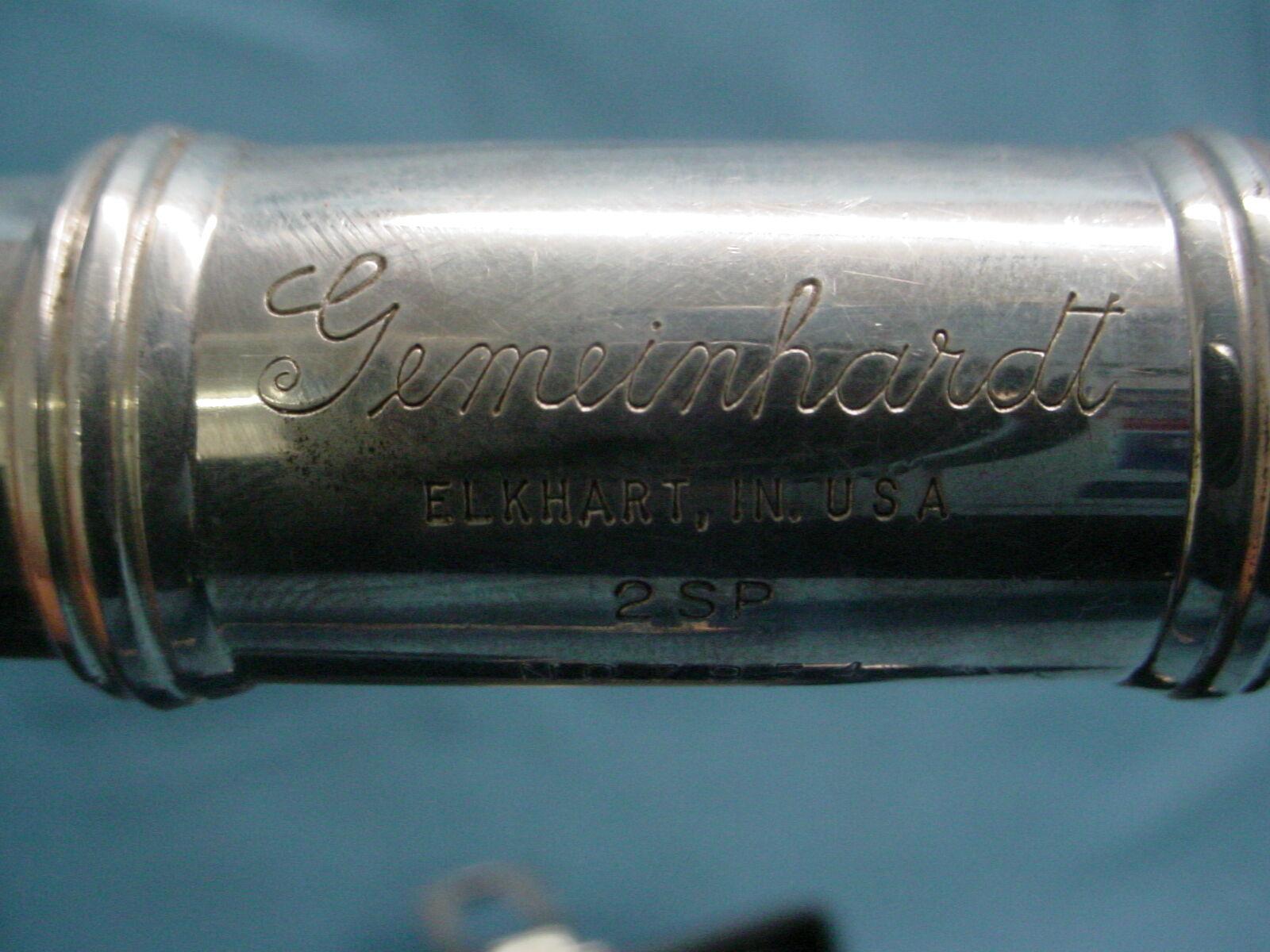 3 flauta Gemeinhardt Elkhart 2SP Plata Plateado Con Estuche Estuche Estuche 0d6009