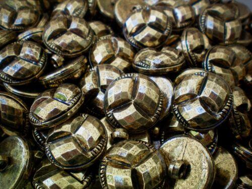W649 20mm 32L Antique Gold Twist Sparkle Shank Jacket Costume Buttons 10 20 50