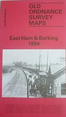 Old Ordnance Survey Detailed Maps East Ham /& Barking London 1915  Sheet 44 New