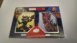 2017-Marvel-Annual-GROOT-ROCKET-Dual-Patch-Card-Guardians-Galxy-Avengers-Endgame