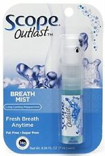 SCOPE Outlast Breath Mist, Long Lasting Peppermint 0.24 oz (Pack of 2)