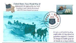 HIGGIN-039-S-Barche-Lcvp-Ww-II-Sbarco-Craft-con-Coast-Guard-Girocollo-DCP-Primo-Day