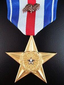 U-S-SILVER-STAR-3rd-HIGHEST-BRAVERY-MEDAL-WITH-3rd-AWARD-OAK-LEAVES-ORIGINAL